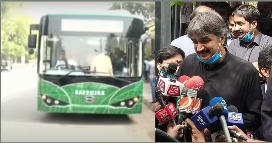 Rich results on Google's SERP when searching for 'Electric Bus in Karachi'