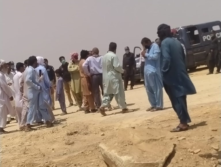 resisting Bahria Town administration, Malir villagers