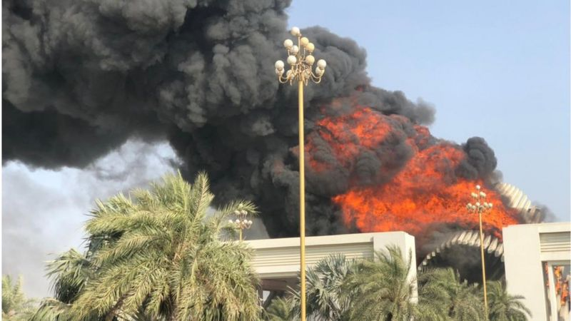 Bahria Town building set on fire