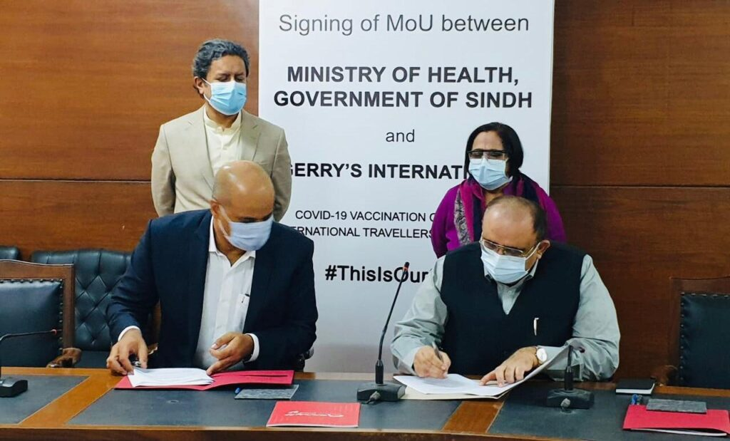 Sindh health department and Gerry's Visa signing MoU