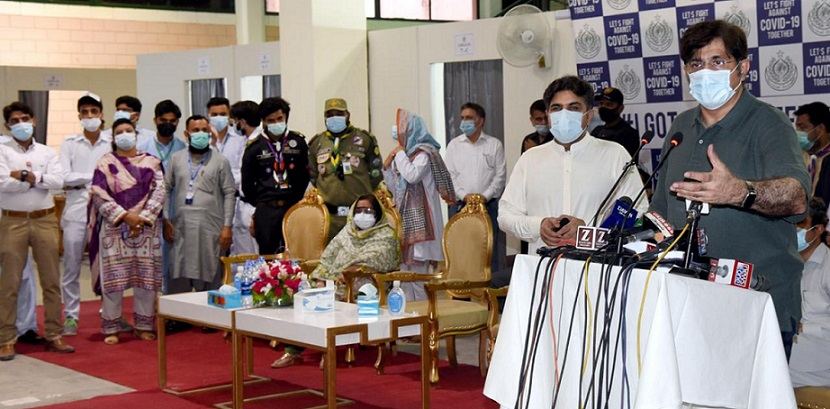 Sindh Chief inaugurated Mass Vaccination Expo Center