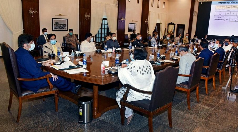 Sindh Cm presiding over meeting