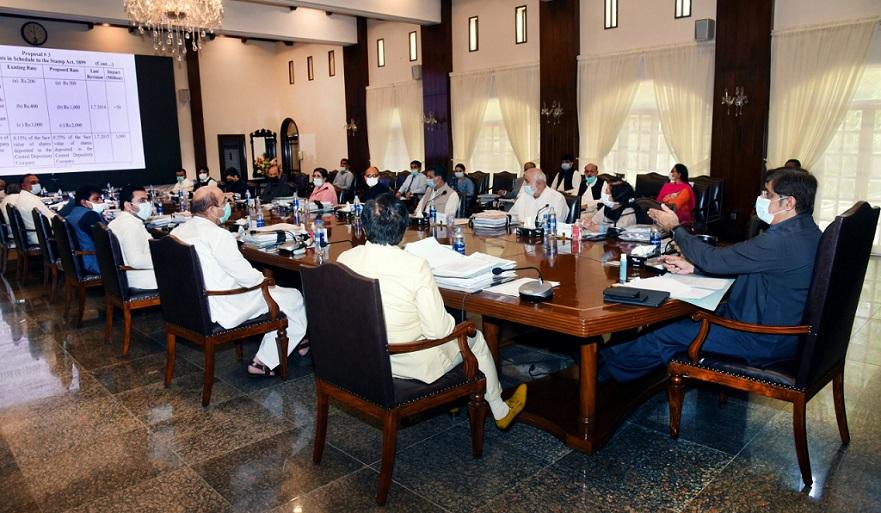 Murad Ali Shah presiding over meeting