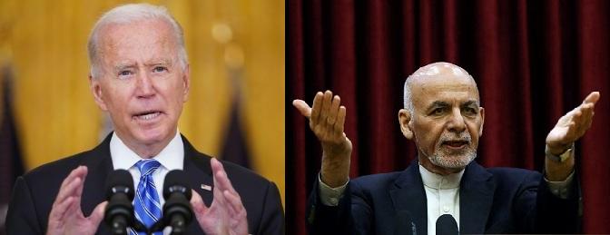 Rich result son google SERP when searching for 'Biden -Ashraf Ghani'