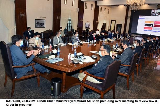 'Sindh Law order meeting'