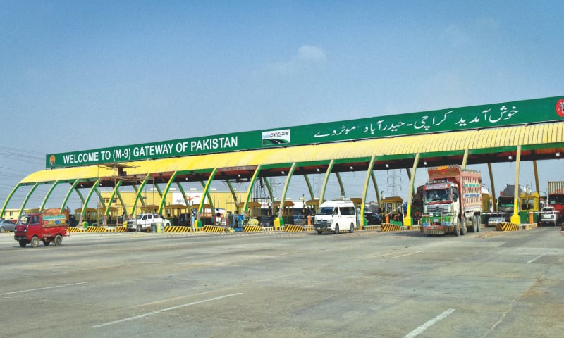 Rich result son google SERP when searching for 'toll plaza karachi'