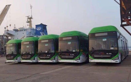 Rich result son google SERP when searching for 'Green-line bus'