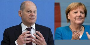 Rich result son google SERP when searching for 'Olaf Scholz- Merkel'