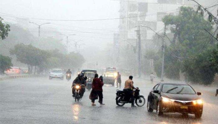 Rich result son google SERP when searching for 'Rain karachi'