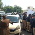 Sacked employees of Fed govt stage protest outside SC Karachi registry