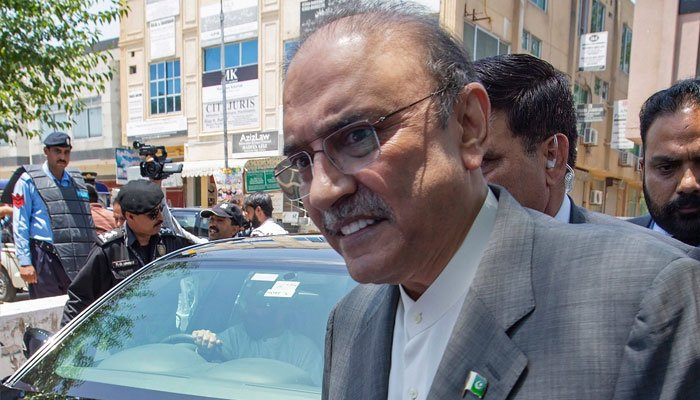 Rich result son google SERP when searching for 'Asif Zardari'